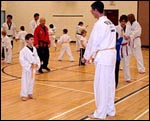 Students from the City of Ottawa's Goulbourn program practicing under Master Yeoh's supervision