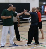 Master Rick Goodman 1st Dan (left) and Master Stephen Yeoh (right) 6th Dan.